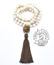 Load image into Gallery viewer, Magnesite 108 Stone Bead Handmade Mala