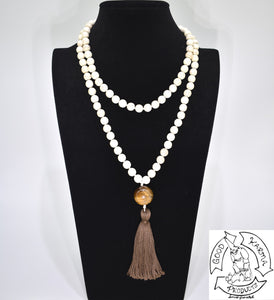 Mala Handmade in the USA with 108 Stone Magnesite Beads