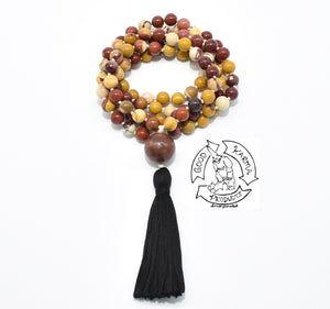 Mala Handmade with 108 Mookaite Stone Beads