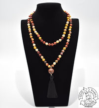 Load image into Gallery viewer,  Handmade 108 Stone Bead Mookaite Mala