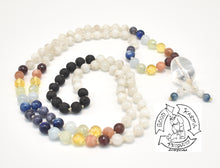 "Load image into Gallery viewer, ""Moon Chakra Diffuser"" - Moonstone Chakra Diffuser 108 Stone Handmade Mala"