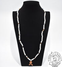 Load image into Gallery viewer, Mala Handmade in the USA with 108 Montana Agate Stone Beads