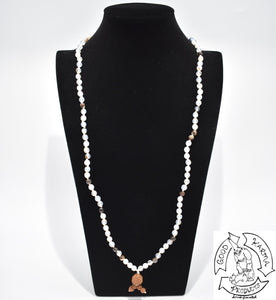 Mala Handmade in the USA with 108 Montana Agate Stone Beads