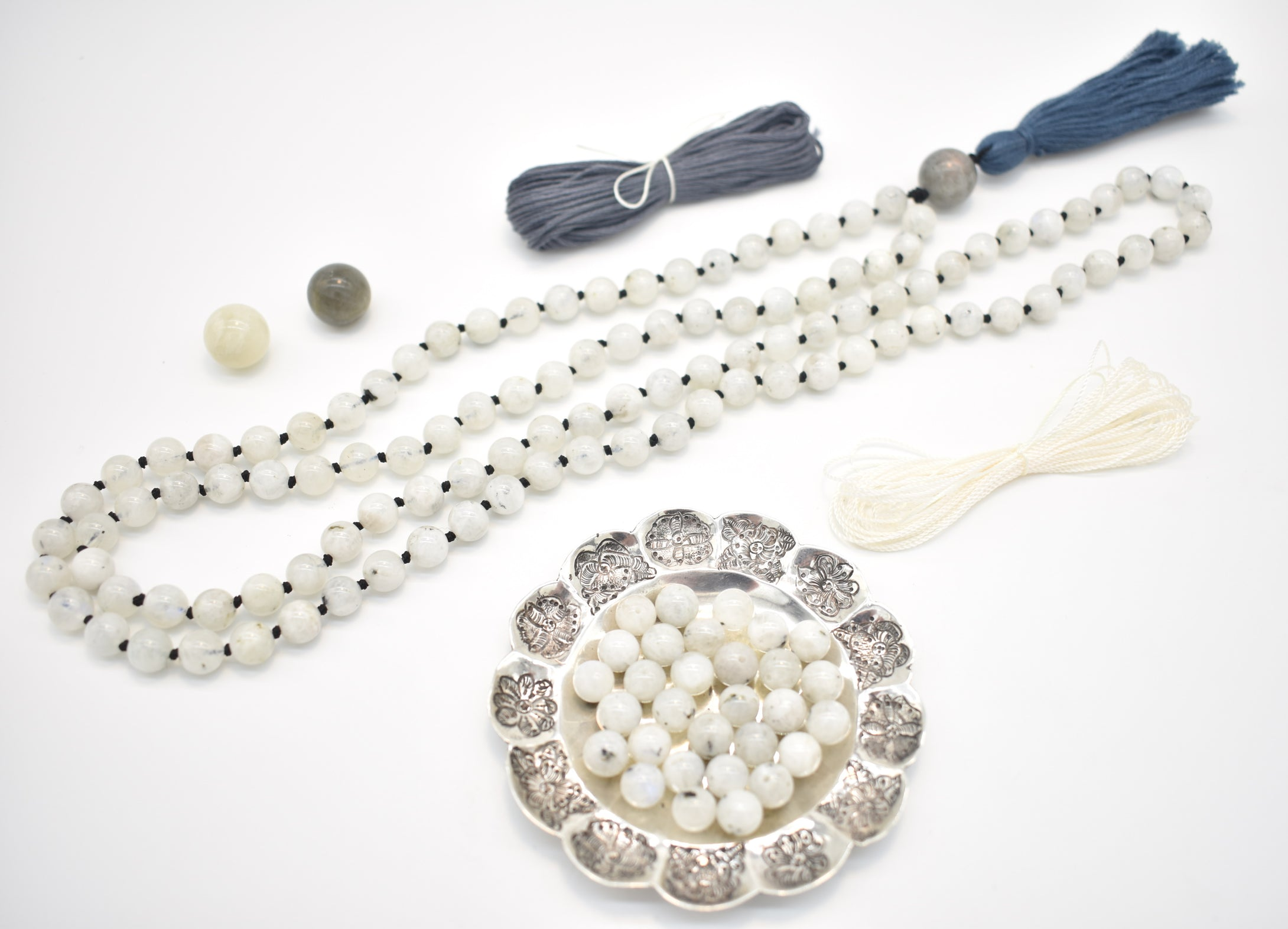 Premium Good Karma Products Moonstone Mala Kit