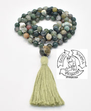Load image into Gallery viewer, Moss Agate Handmade Mala