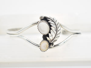 Mother of Pearl Sterling Silver Southwest Style Cuff Bracelet