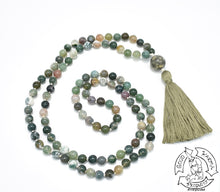 Load image into Gallery viewer, Moss Agate Mala
