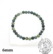Load image into Gallery viewer, Moss Agate Stone Bracelet 6mm