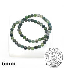 Load image into Gallery viewer, Moss Agate Stone Bracelets 6mm