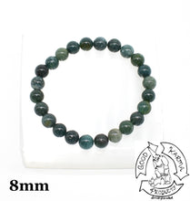 Load image into Gallery viewer, Moss Agate Stone Bracelet 8mm