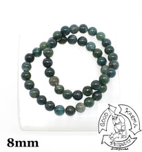 Load image into Gallery viewer, Moss Agate Stone Bracelets 8mm