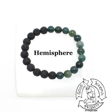 Load image into Gallery viewer, Diffuser Bracelet Handmade with Moss Agate and Lava Stone