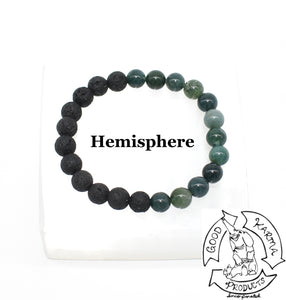 Diffuser Bracelet Handmade with Moss Agate and Lava Stone
