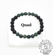 Load image into Gallery viewer, Moss Agate and Lava Stone Diffuser Bracelet