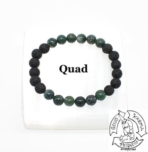 Moss Agate and Lava Stone Diffuser Bracelet