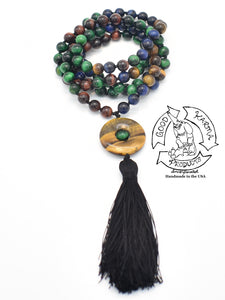 """Eye of the Tiger"" - Different Tiger Eye Handmade 108 Stone Mala"