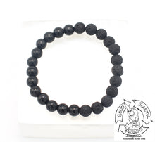 "Load image into Gallery viewer, ""Shielding Diffuser"" - Onyx and Lava Stone Bracelet"