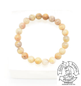 """Easing"" - Peach Moonstone Stone Bracelet"