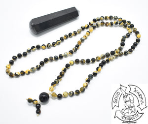 Mala Handmade with Bumble Bee Jasper stone beads