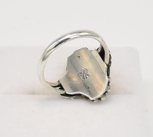 Running Bear Trading Turquoise and Sterling Silver Ring - Size 6.5