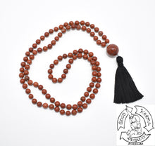 Load image into Gallery viewer, Mala Handmade with 108 Red Jasper Stone Beads