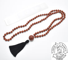 Load image into Gallery viewer, Red Jasper Mala Handmade in the USA with 108 Stone Beads