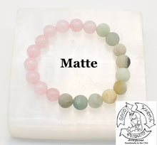 Load image into Gallery viewer, Matte Amazonite and Rose Quartz Stretchy Stone Bracelet