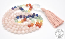 "Load image into Gallery viewer, ""Rose Quartz Chakra"" - Quartz, Rose Quartz, and Chakras Handmade 108 Stone Mala"