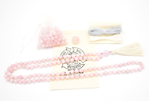 Rose Quartz Mala Kit Example