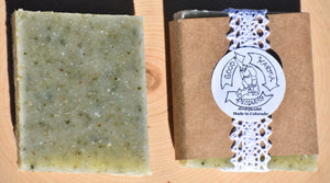 Peppermint and Patchouli with Seaweed and Chamomile Tea Soap - 4 Pack