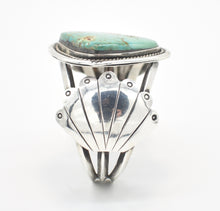 Load image into Gallery viewer, Larger Slab Turquoise and Sterling Silver Southwestern Cuff