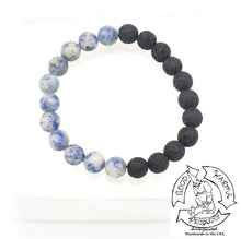 "Load image into Gallery viewer, ""Balancing Diffuser"" - Sodalite and Lava Stone Bracelet"