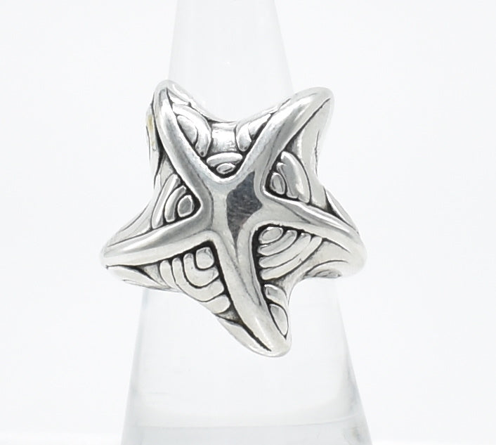 Vintage Sterling Silver Starfish Ring - Size 8.75