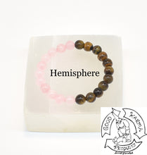 "Load image into Gallery viewer, ""Enduring Love"" - Tiger Eye and Rose Quartz Stone Bracelet"