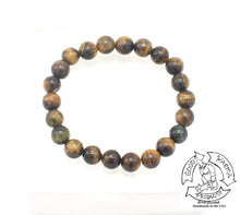 "Load image into Gallery viewer, ""Enduring"" - Tiger Eye Stone Bracelet"