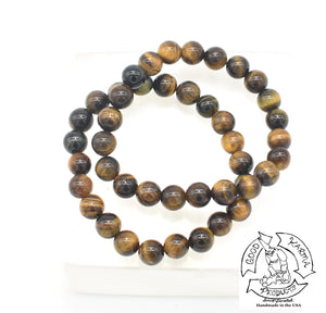 """Enduring"" - Tiger Eye Stone Bracelet"