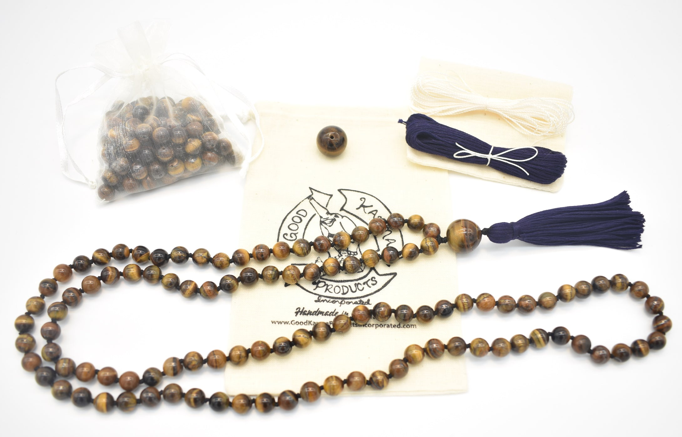 Good Karma Products Tiger Eye Mala Kit