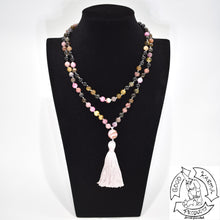 Load image into Gallery viewer, Mala Handmade in the USA with 108 Tourmaline Stone Beads