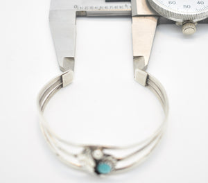 Turquoise and Sterling Silver Southwest Style Cuff Bracelet