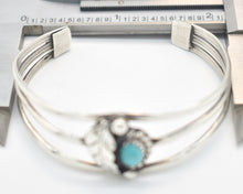 Load image into Gallery viewer, Turquoise and Sterling Silver Southwest Style Cuff Bracelet