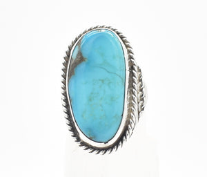 Large Turquoise and Sterling Silver Statement Southwest Ring - Size 10