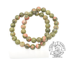 "Load image into Gallery viewer, ""Leveling"" - Unakite Stone Bracelet"