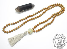Load image into Gallery viewer, Mala Handmade with 108 Wood Jasper Stone Beads