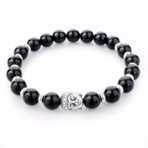 Natural Healing Stone beads Buddha Bracelets - Stones and Sparkles