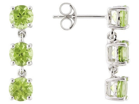 Peridot Earrings in 14K Gold