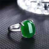 Natural Emerald, Ruby Stone re-sizable ring - Stones and Sparkles