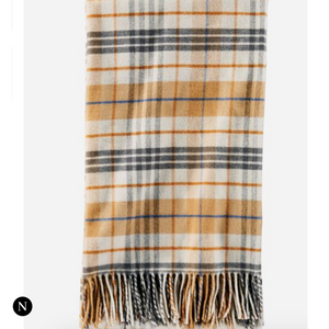 Pendleton Blanket Treat Gift in Gold Plaid - Nifty Package Co