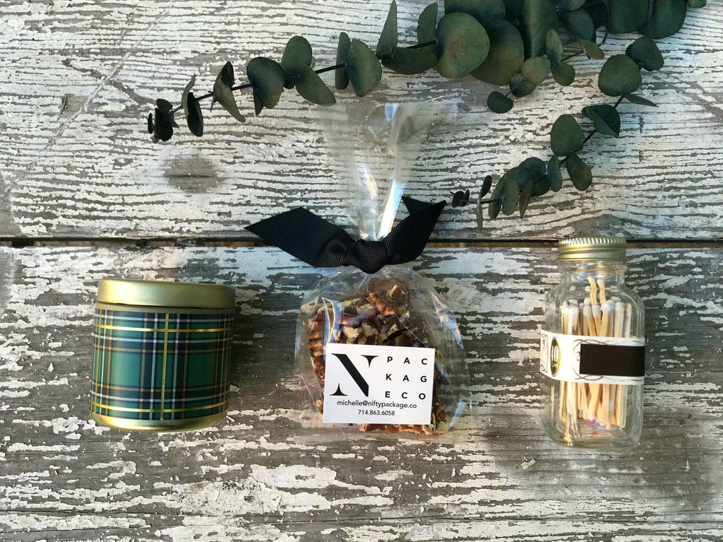 Nifty Package Co. Gourmet Gifts: Candle and Candy Gift Set