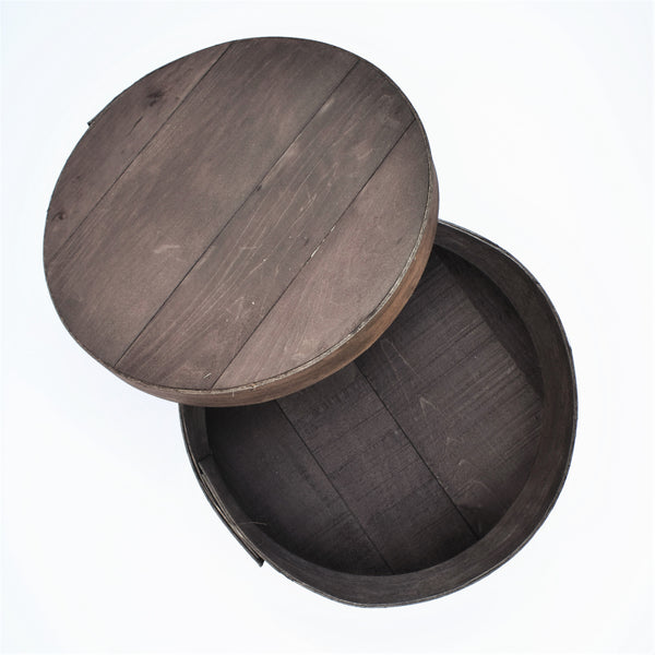 Medium Round Wood Gift Box
