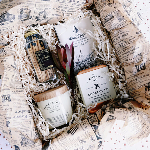 Nifty Package Co. Gourmet Gifts: Cocktails, Chocolate and Candles